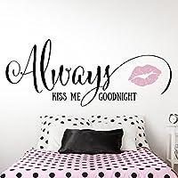 Grandora W5215 Adesivo murale Always kiss me buonanotte Bi-colore -