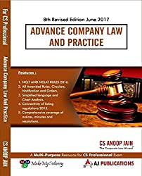 Advance Company Law and Practice for CS Professional June 2017 Exam