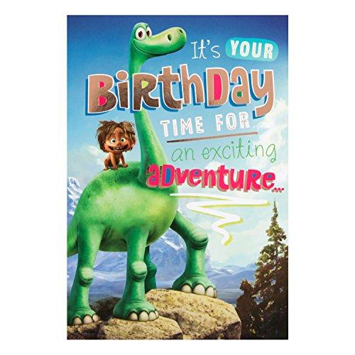 Hallmark 'Good Dinosaur' Geburtstagskarte mit Aufschrift 'Exciting Adventure' - Mittelgroß (in englischer Sprache)
