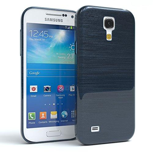 Samsung Galaxy S4 Mini Hülle - EAZY CASE Ultra Slim Cover TPU Handyhülle Matt - dünne Schutzhülle aus Silikon in Grün Brushed Dunkelblau