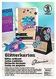 Ursus 62124699 - Glitterkarton Glamour, DIN A4, 330 g/qm, 5 Blatt, sortiert in 5 Farben
