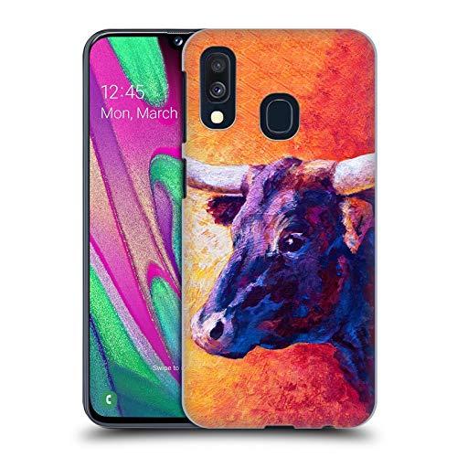 Head Case Designs Offizielle Marion Rose Violette Kuh Rinder Harte Rueckseiten Huelle kompatibel mit Samsung Galaxy A40 (2019)