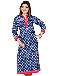 Ashwati Women's Latest Designer Kurti, Long Ethnic Cotton Kurta, Ladies Tops, Casual, Party Wear Dresses For Girls...