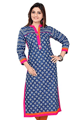 Ashwati Women's Latest Designer Kurti, Long Ethnic cotton kurta, Ladies Tops, Casual,...