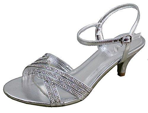 Ubershoes , Sandales pour femme Argent - Plateado - plata
