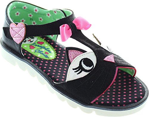 ... Irregular Choice Kitty, Sandales Bout ouvert fille Noir ...