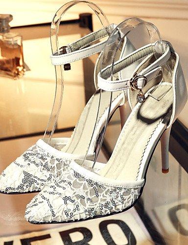UWSZZ IL Sandali eleganti comfort Scarpe Donna-Sandali / Scarpe col tacco-Ufficio e lavoro / Formale / Casual-Tacchi / A punta-A stiletto-Finta pelle-Nero / Rosso / Bianco White