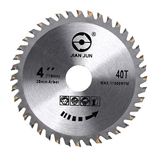 globalqi 40 Zähne Kreissägeblatt-Trennscheibe 4 Zoll für Hartmetall-Kreissägeblatt-Schleifmaschinen für Holzwerkstoffe