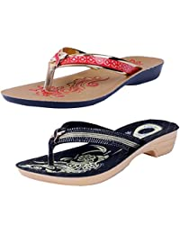2c6ecdc6a IndiWeaves Comfortable Flip Flop Sandal for Womens(Pack of 2 Pairs)