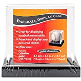 Darice Baseball Acrylic Display Case 3.65'X3.65'X3.5'-Black Base
