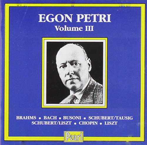 Recital Egon Petri Vol. 3 (1938-1951)