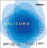 D\'Addario Bowed Jeu de cordes pour contrebasse solo D\'Addario Helicore, manche 3/4, tension Medium