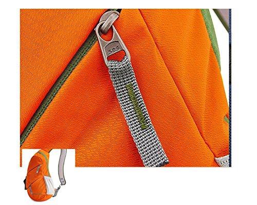 Confezione toracica Tessuto in nylon viaggio equitazione indossare impermeabile 35 * 25 * 11 Grande capacità Maschio e femmina Confezione toracica Sacchetto del messaggero , blue orange