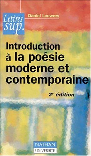 Introduction à la poésie moderne et contemporaine