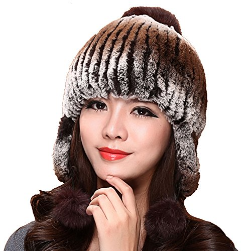 ONEWORLD High Quality Women's Man-made Rabbit Fur Thick Hat Warm Winter