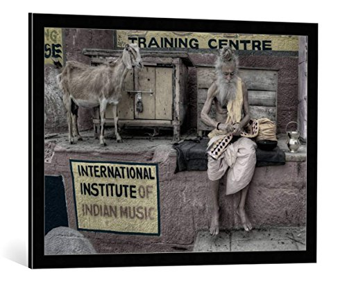 image-encadree-nimit-nigam-international-institute-of-indian-music-impression-dart-decorative-en-cad