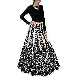 black party wear lehanga choli/ sale