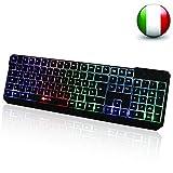 KLIM Chroma Tastiera ITALIANA per Gaming USB - Alte Performance – Colori da Videogioco e Retroilluminata – Tastiera da Gioco – Tastiera per Videogame immagine