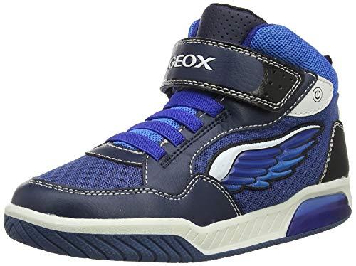 Geox Jungen J INEK Boy D Hohe Sneaker, Blau (Navy/Lt Blue C0693), 31 EU