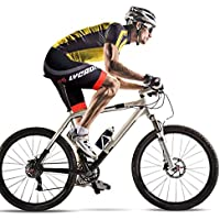 LYCAON Performance Cycling Shorts (3D Gel Padding), Pantalones Cortos de Bicicleta para MTB Road Mountain Bikes Bicycle Ridding Cruise Hombres Mujeres Niños Adolescentes (Red, L)