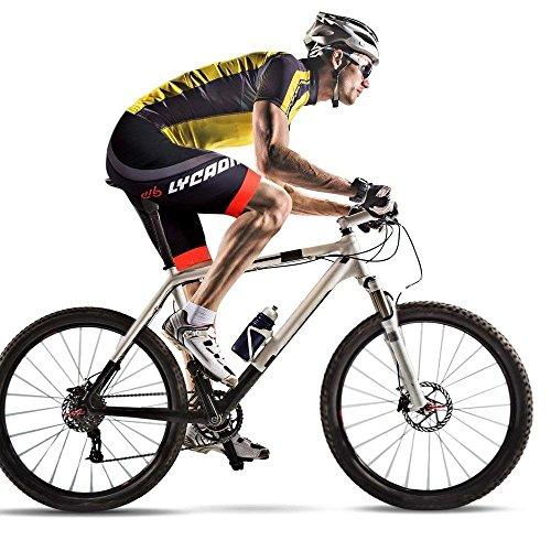 LYCAON Performance Cuissard (3D Gel Rembourrage), Bike Shorts pour VTT Route Mountain Bikes Bicycle...