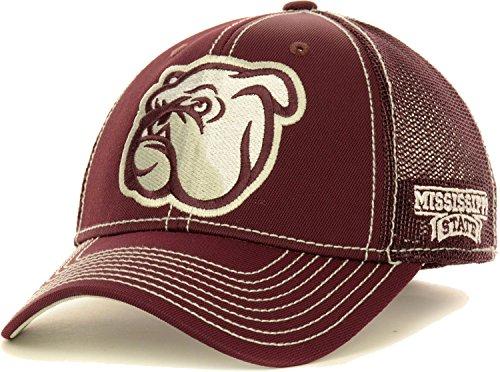 Adidas Mississippi State Bulldogs Oversized Logo Flex Meshback Cap Hat, unisex, kastanienbraun, L/XL Mississippi State Player