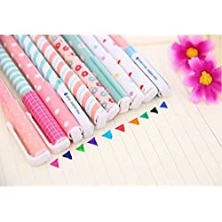 Bolígrafo de tinta de gel Cute dibujos animados coreano Pin Tipo Wholesale kawaii papelería, 10 Colors Set