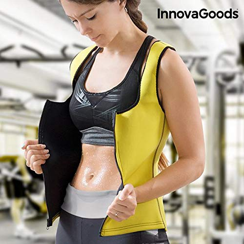 InnovaGoods IG117704 Chaleco Deportivo, Mujer, Amarillo, L