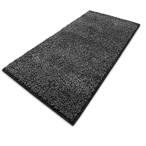 Passatoia corridoio al metro - tappeti lunghi, a metraggio, shaggy a pelo corto, in vari colori - antracite - 66x100 cm