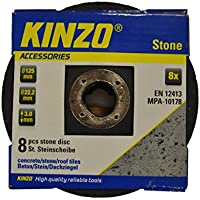 Kinzo 71772 Disque pierre 125 mm 8 pièces