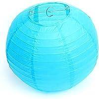 Lampions Blau D-25cm SEF 10-Stk blaue Papierlampions Hängedeko zum Dekorieren