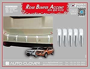 FurnishMyAuto Chrome Finish Auto Clover Rear Bumper for Mahindra XUV500 2011-2019 Year Model Car Accessories