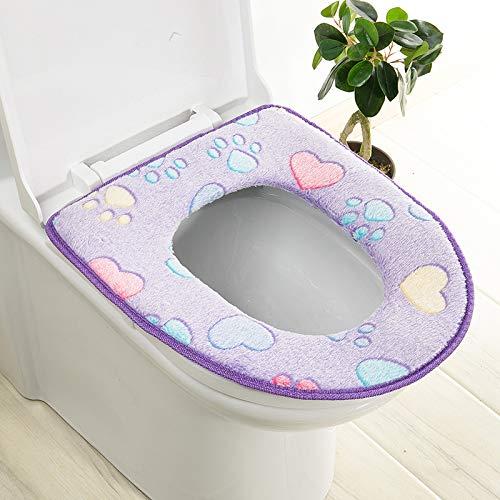 Trap-o-ring (BAOZIV587 2er-Pack WC-Sitzkissen Haushalt Toilettendeckel Aufkleber Wc Trap Waterproof Universal-Wc-Sitzmatte Summer, Purple Glue)