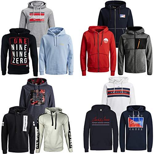 JACK & JONES Kapuzenpullover 3er Pack Hoodie Sweat Shirt Herren Baumwollmix S M L XL XXL (M, 3er Paket X 23)