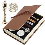 Wachs Siegel Stempel, puqu Vintage Buchstabe Buchstaben Metall Griff Wachs Badge Umschlag Siegel Stempel Geschenk Set Kit m gold