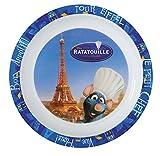 Fun House 005201 Ratatouille Assiette Micro-ondable pour Enfant Polypropylène Bleu/Blanc 22 x 22 x 1 cm