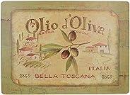 Creative Tops Olio D'Oliva Extra grote premium tafelsets met kurkrugzijde in 4-delige set, 40 x 29 cm (153