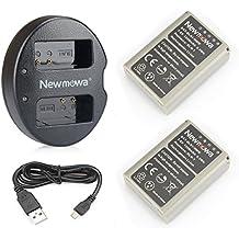 Newmowa BLN-1 Batería de repuesto (2-Pack) y Kit de Cargador Doble para Olympus BLN-1, BCN-1 y Olympus OM-D E-M1, OM-D E-M5, PEN E-P5,OM-D E-M5 II