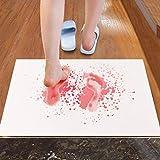 MOLUO Türmatte rutschfeste blutige Badematte Mikrofaser Memory Foam Badematte Kreative Der Fußabdruck rutschfeste Matte Terror Boden Fußmatte @ A