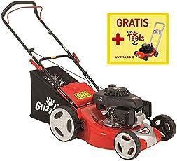 Grizzly Benzin Rasenmäher Set BRM 46-160 H Honda Motor, 3,8 PS 2,8 kW, 46 cm Schnittbreite, 60 Liter Fangsack, inkl. Kinderrasenmäher
