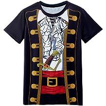 Funny World Disfraz Costume de Pirata T-Shirts Camisetas para Hombre