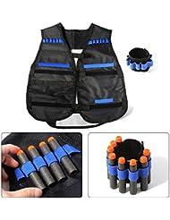 XCSOURCE® Elite Tactical Vest + Juego de Brazales con Quick Reload Storage Para Nerf N-strike Batalla de la pistola del juguete de la serie de la élite TH344