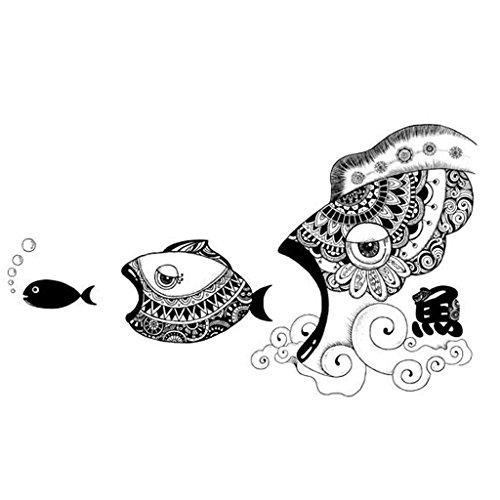 GAOLILI Kunst & Handwerk Restaurant Shop Dekorationen Kreative Fisch Wandaufkleber Persönliche Firma Wohnzimmer Korridor Inspirierende Wandaufkleber Literarische Persönlichkeit (Poster Inspirierende Kunst)
