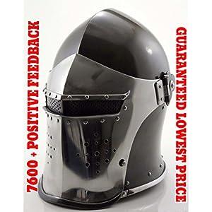 ANTIQUENAUTICAS Schöne Gladiator Barbute Römische Spartan Maske Zuckerhut mittelalterlichen Rüstung Helm