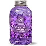 Badesalz Lavendel, Meersalz mit 100 % natürlichem ätherischen Lavendelöl, natur Bade-Salz am besten für guten Schlaf /Stressabbau / Beauty/ Baden /Körperpflege /Wellness /Schönheit /Entspannung / Aromatherapie/SPA, Badezusatz - 1er Pack (1 x 600 g), von AROMATIKA