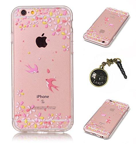 TPU Crystal Case Hülle Silikon Schutzhülle Handyhülle Painted pc case cover hülle Handy-Fall-Haut Shell Abdeckungen für Smartphone Apple iPhone 6 (4.7 Zoll) +Staubstecker (3GK) 6