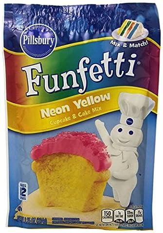 Pillsbury Funfetti Neon Yellow Cupcake & Cake Mix 234g