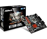 ASRock H110M-DVS - 3.0 Motherboard (Mikro-ATX LGA1151 Socket H110 Gigabit LAN Onboard-Grafik (CPU erforderlich) HD Audio