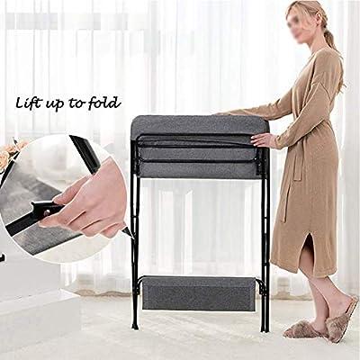 Wuraxy Mesa de pañales portátil plegable, mesa de cuidados para recién nacidos, masaje para bebés, baño, tocador