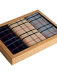 """Mouchoirs écossais """"Stirling"""" - 43cm x 43cm - Coffret de 3 unités"""